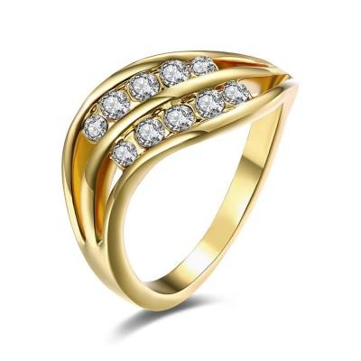 Runder Schliff Weisser Saphir RoséGelbgold / Silber / Gelbgold Titan Memoire Ringe