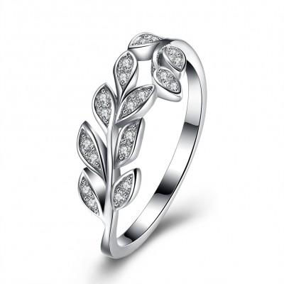 Runder RundSchliff aus Weißemem 925 Saphir Sterling Silber Ringe