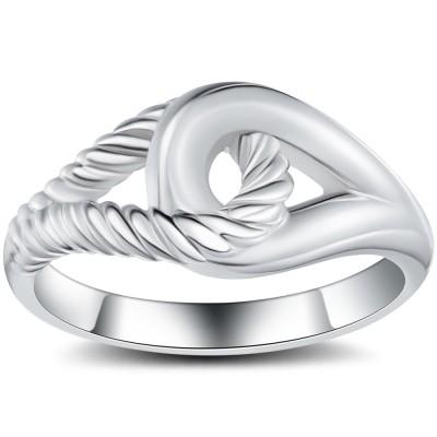 Interlock 925 Sterling Silber Cocktail Ringe