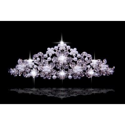 Helle tschechische RhineZirkonias Blumen Perlen Hochzeit Kopfschmuck