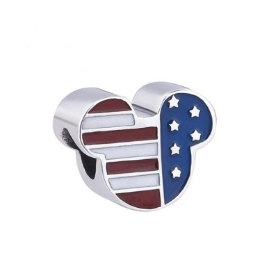 Mickey Stars & Stripes Charm Sterling Silber