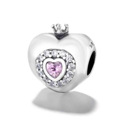 Krone & Herz Princess Charm Sterling Silber