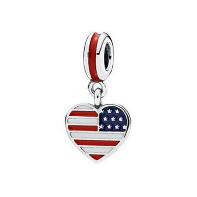 Amerikanische Flagge Charm Sterling Silber
