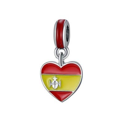 Spanischer Flaggen-Anhänger Sterling Silber