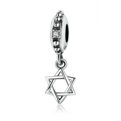 Hexagramm Charm Sterling Silber