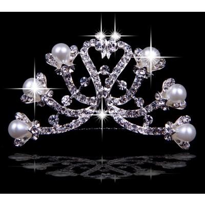 Elegante tschechische RhineZirkonia-Perlen die Kopfbedeckungen heiraten