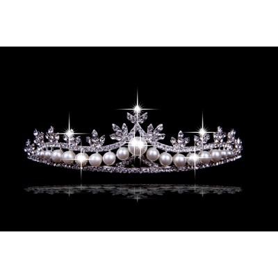 Schlichte-Legierung mit tschechischen RheinZirkonias-Perlen die Kopfbedeckungen heiraten