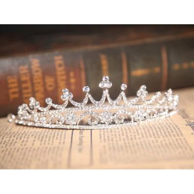 Atemberaubende Legierung klare Kristalle Hochzeit Kopfschmuck