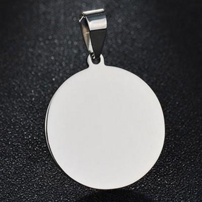 Titan Runde Form personalisierte Foto graviert Anhänger Halsschmuck