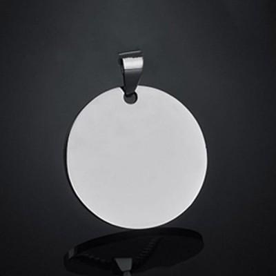 Titan Personalisierte Foto Gravierte Runde Form Anhänger Halsschmuck