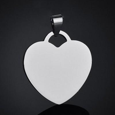 Titan Personalisierte Foto Gravierte Herzform Anhänger Halsschmuck