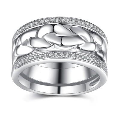 Runder Schliff aus Weißemem Saphir 925 Sterling Silber Braut-sets