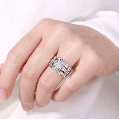 Fabelhafter RundSchliff aus Weißemem Saphir 925 Sterling Silber Verlobungsringe