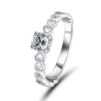 Weißemer Saphir 925 Sterling Silber Versprechen Ringe Für Sie