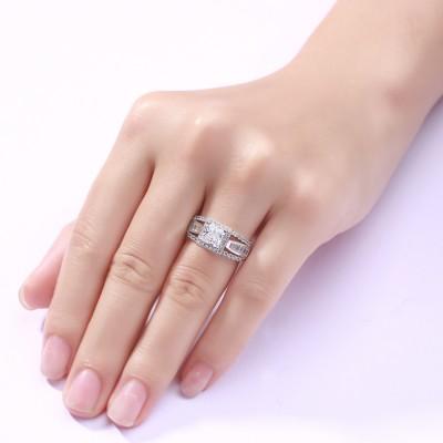 Amazing Princess Schliff 925 Sterling Silber Verlobungsringe