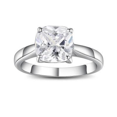 Asscher Schliff Zirkonia 925 Sterling Silber Versprechen Ringe For Her