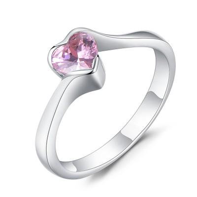 Herz Schliff Rosa saphir 925 Sterling Silber Verlobungsringe