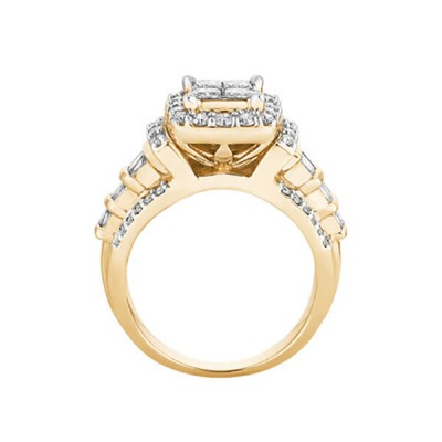 Prinzess Schliff Weißer Saphir 925 Sterling Silber Halo Gold Verlobungsringe