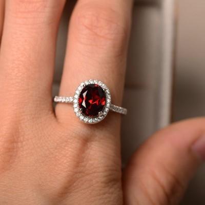 Jahrgang Ovale Schliff Weißer Saphir 925 Sterling Silber Halo Verlobungsringe