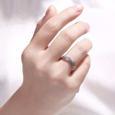 0.50CT Runder Schliff aus Weißemem Saphir 925 Sterling Silber Damen Memoire Ringe