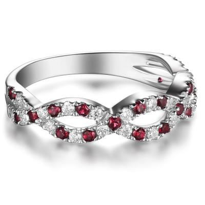 Wunderschöne Sterling Silber Damen Verlobungsring