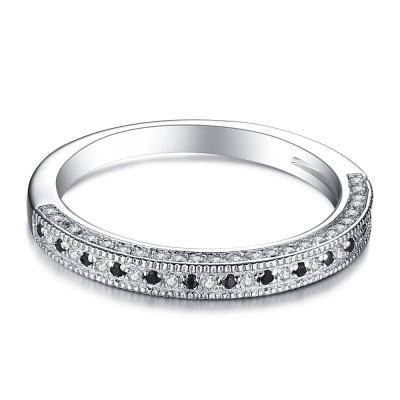 Runder Schnitt aus S925Sterling Silber Damen Memoire Ringe