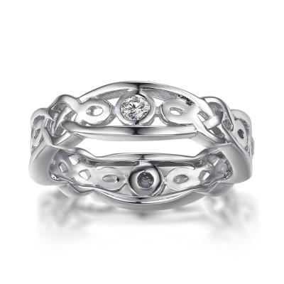 925 Sterling Silber Memoire Ringe für Frauen