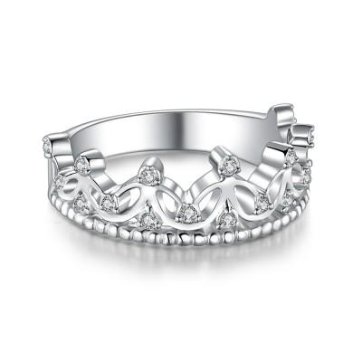 KronenSchliff Zirkonia 925 Sterling Silber Versprechen Ringe für Sie