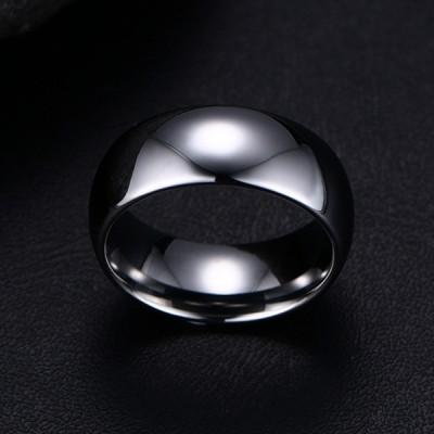 Tungsten Schlichte Silber Herrenring