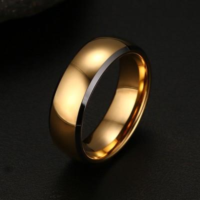 Tungsten Gelbgold Farbe Herrenring