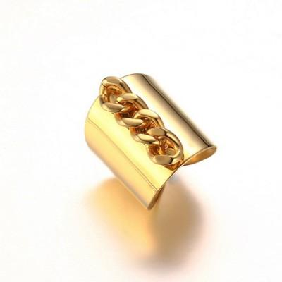 Titan-Kette Einzigartige Gelbgold-Versprechen Ringe für Sie