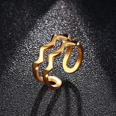 Titan Unique Curve Gelbgold Versprechen Ringe für Sie