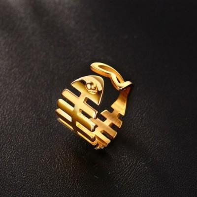 Titan Gelbgold Fishbone Versprechen Ringe Für Sie
