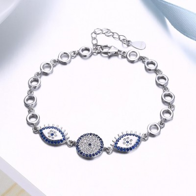 Royal blau Accessories S925 Sterling Silber Armbänders