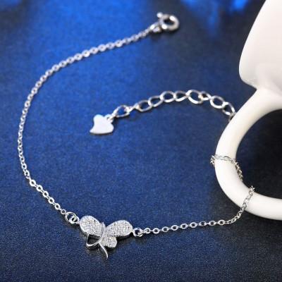 Schlichte Lovely Pendant S925 Sterling Silber Armbänders