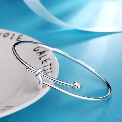 Elegante und schöne Silber Titan Armreifen
