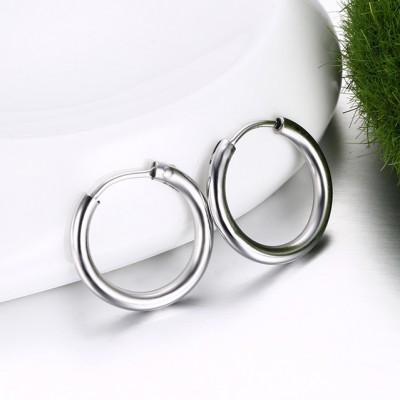 Runder Silber 925er Sterling Silber Ohrring