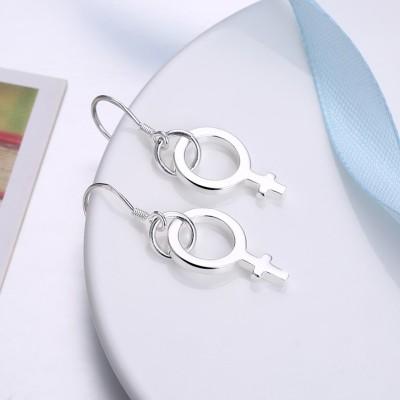 Süßes Design S925 Sterling Silber Ohrring