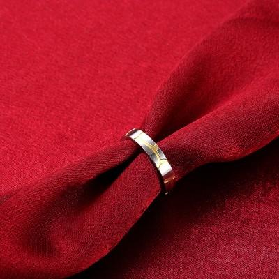 Silber und Gelbgold Titan Bands Ringe für Frauen