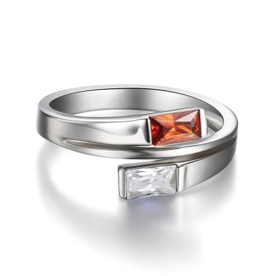 Smaragd Schliff Rubin Sterling Silber Cocktail Ringe