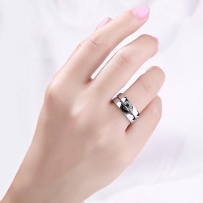 Einzigartiges Design 925 Sterling Silber Versprechen Ringe für Paare