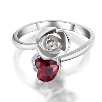 Herzschnitt 925 Sterling Silber Versprechen Ringe für Sie