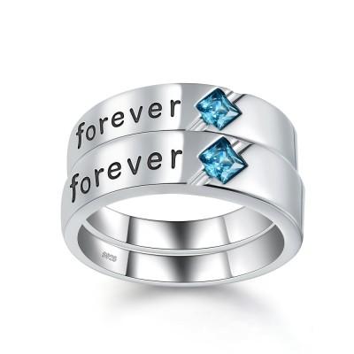 Cushion Schliff Zirkonia 925 Sterling Silber Versprechen Ringe für Paare