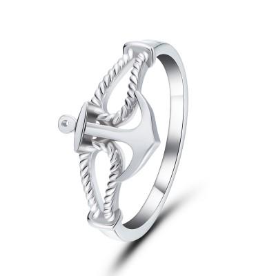 Anker Style 925 Sterling Silber Versprechen Ringe für Sie