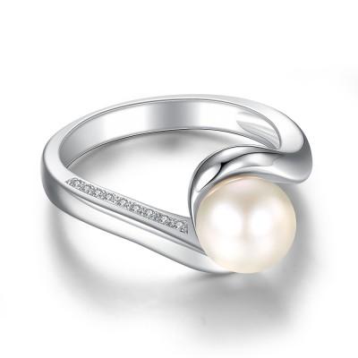 Süße Perle 925 Sterling Silber BirthZirkonia Ringe