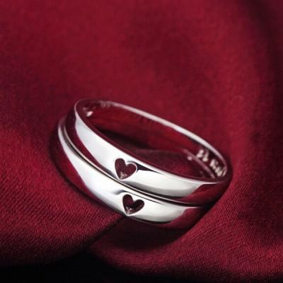 Herz zu Herz 925 Sterling Silber Partnerringe