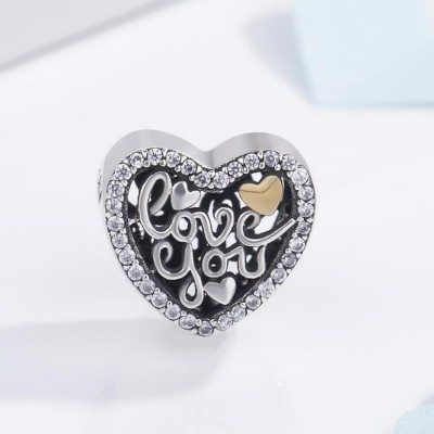 Liebe dich Charm Sterling Silber