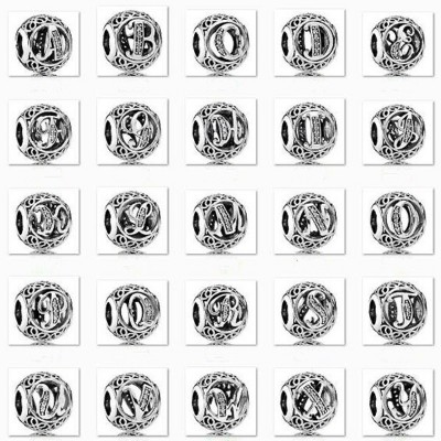 Alphabet Charm Sterling Silber