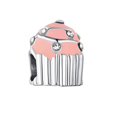 Cupcake Charm Sterling Silber