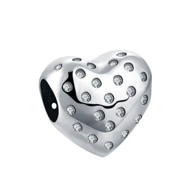 Schöne Herz Charm Sterling Silber
